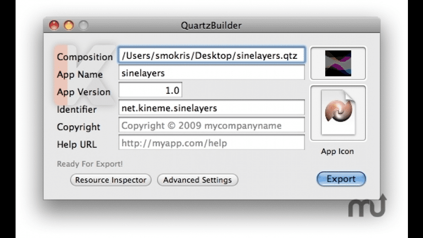 QuartzBuilder for Mac - review, screenshots