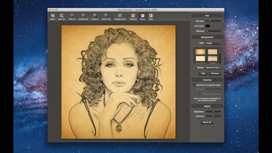 PhotoSketcher for Mac - review, screenshots