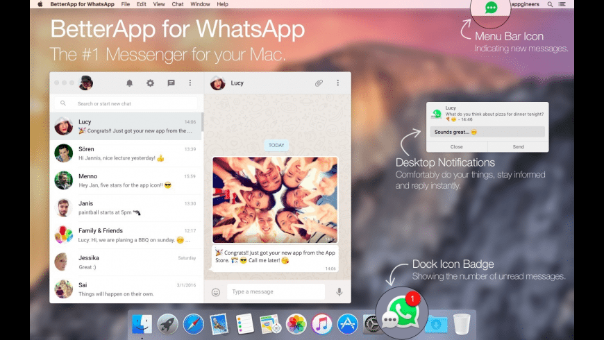 BetterChat for WhatsApp for Mac - review, screenshots