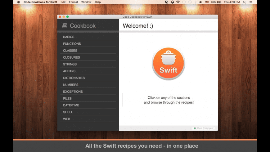 Code Cookbook for Swift for Mac - review, screenshots