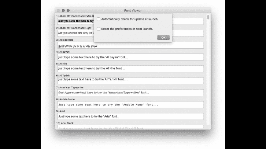 Font Viewer for Mac - review, screenshots