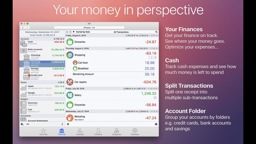 iFinance for Mac - review, screenshots