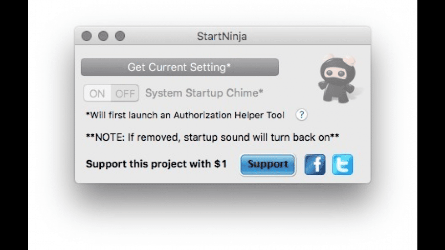 StartNinja for Mac - review, screenshots