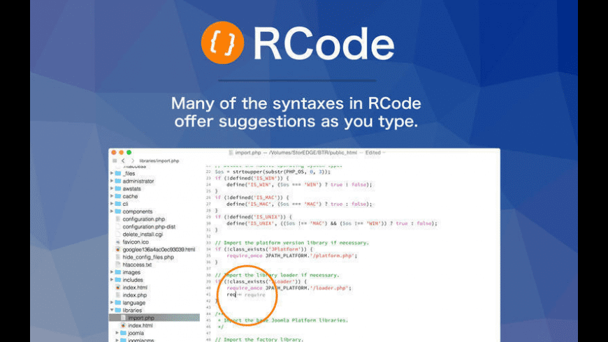 RCode for Mac - review, screenshots