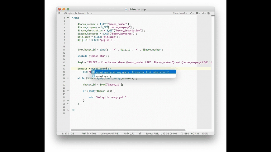 BBEdit for Mac - review, screenshots