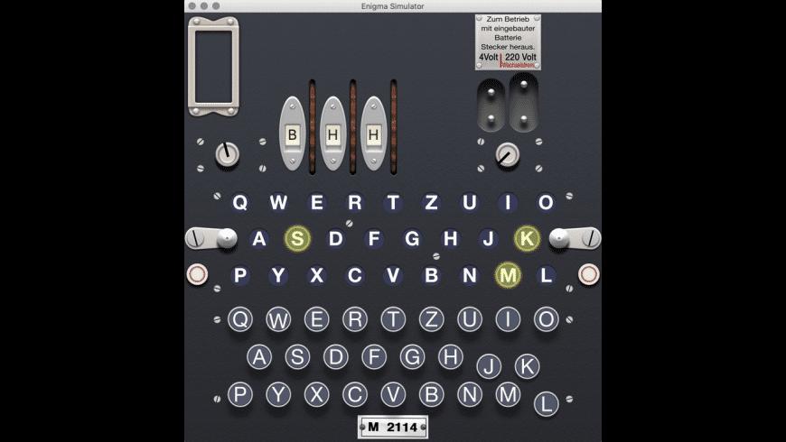 Enigma Simulator for Mac - review, screenshots