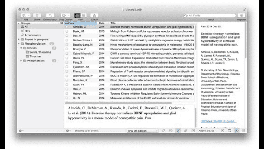 Bookends for Mac - review, screenshots
