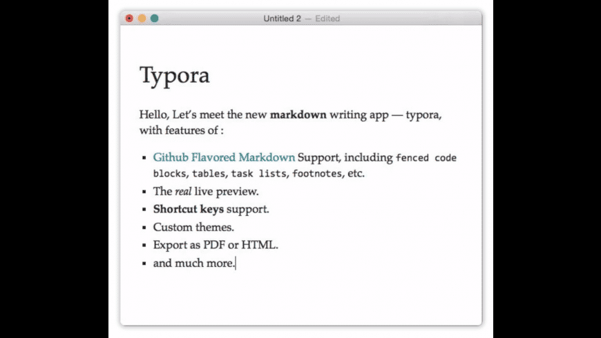 Typora for Mac - review, screenshots