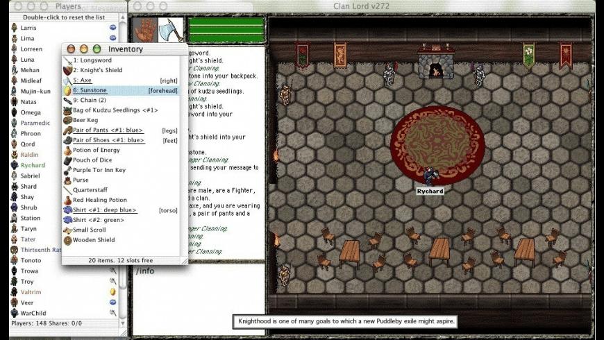 Clan Lord for Mac - review, screenshots