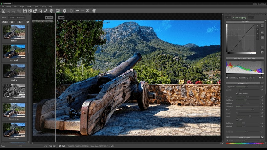easyHDR for Mac - review, screenshots
