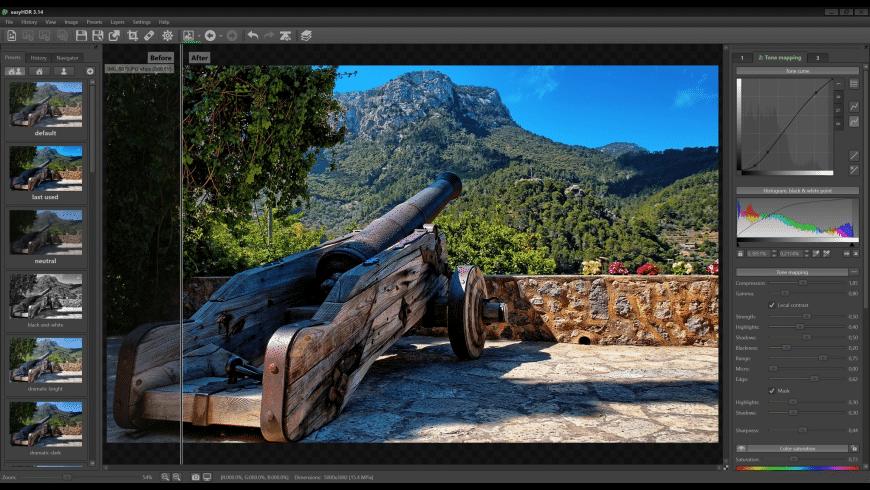 easyHDR for Mac - review, screenshots