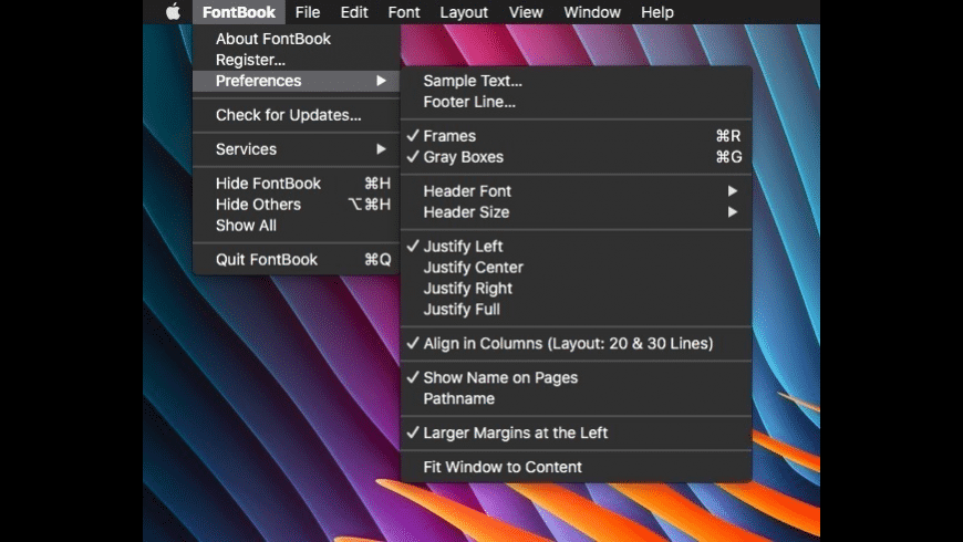 FontBook for Mac - review, screenshots