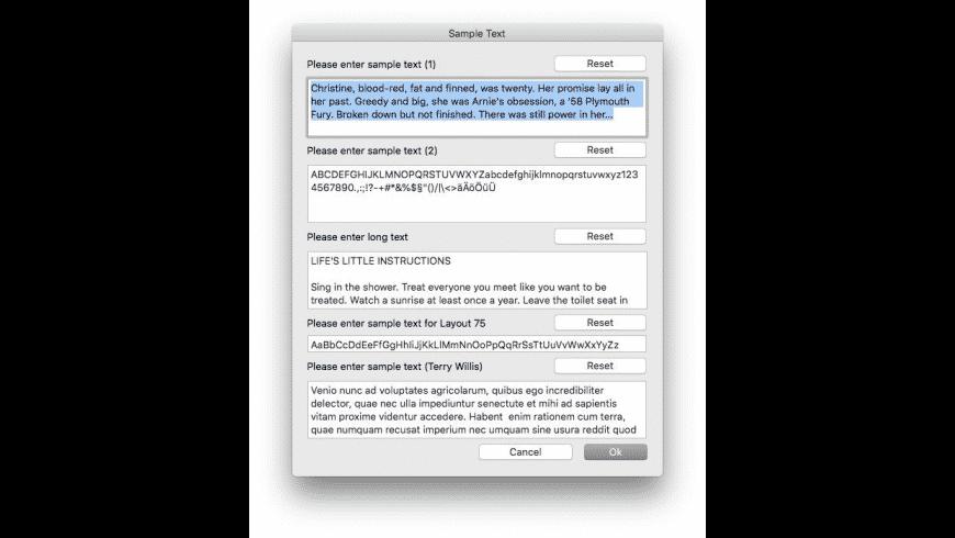 FontBook for Mac - review, screenshots