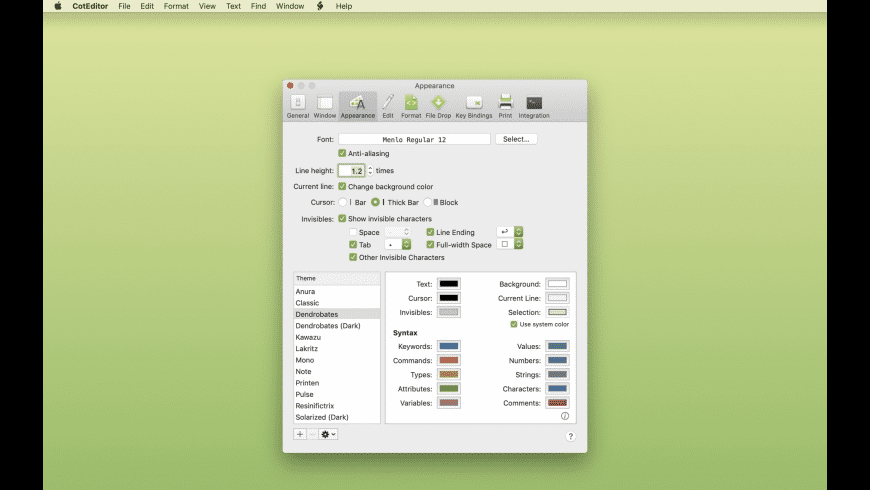 CotEditor for Mac - review, screenshots