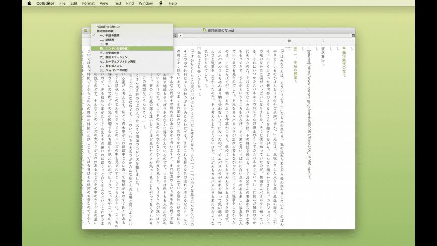 CotEditor for Mac - review, screenshots