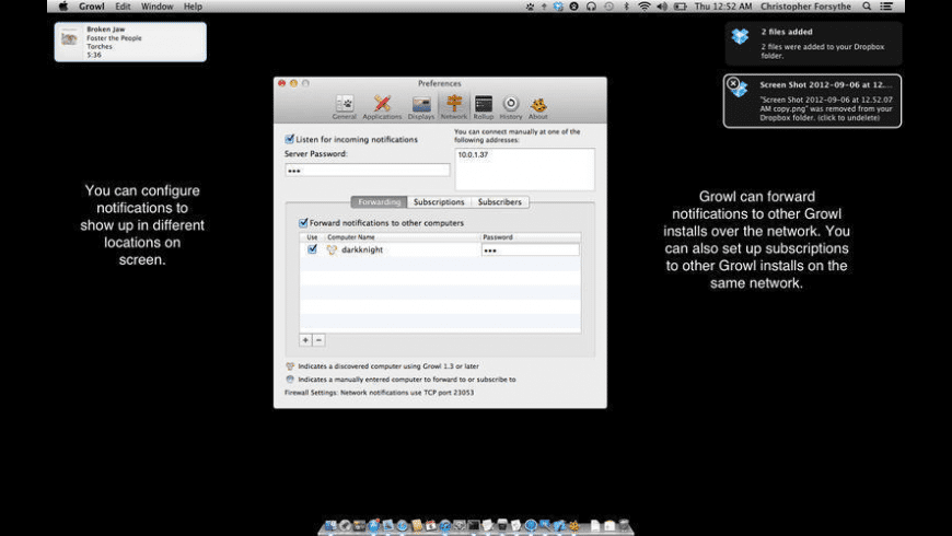 Growl for Mac - review, screenshots