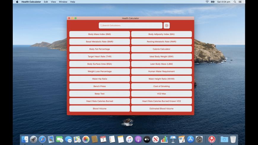 Health Calculator for Mac - review, screenshots