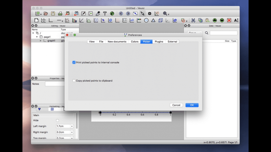 Veusz for Mac - review, screenshots