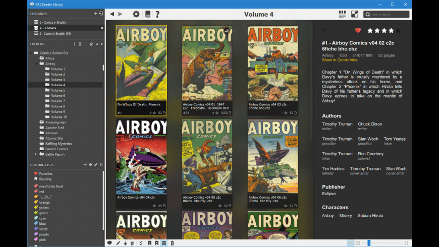 YACReader for Mac - review, screenshots