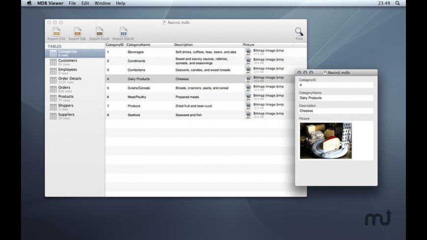 MDB ACCDB Viewer for Mac - review, screenshots