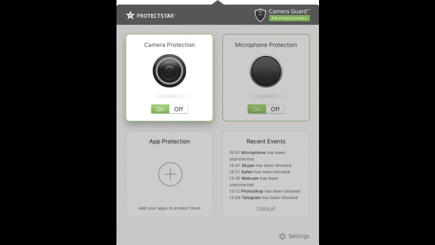 Camera Guard for Mac - review, screenshots