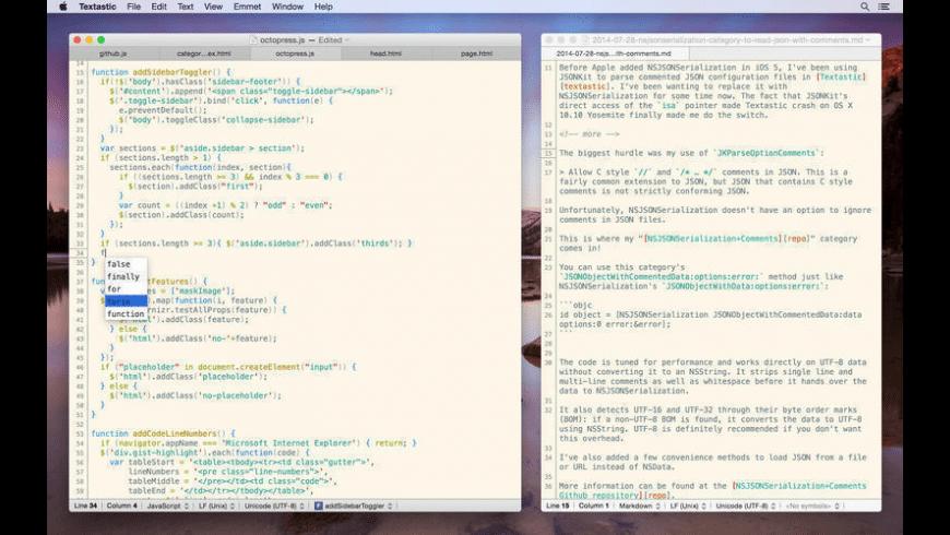 Textastic for Mac - review, screenshots