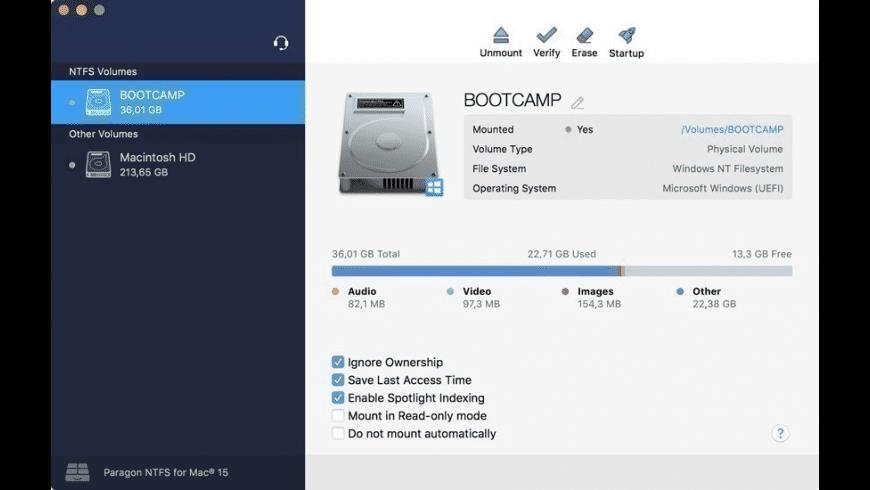 Paragon NTFS for Mac - review, screenshots