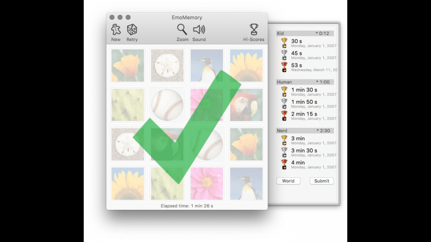 EmoMemory for Mac - review, screenshots