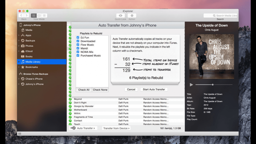 iExplorer for Mac - review, screenshots