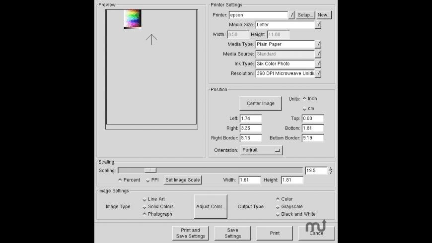Gutenprint for Mac - review, screenshots