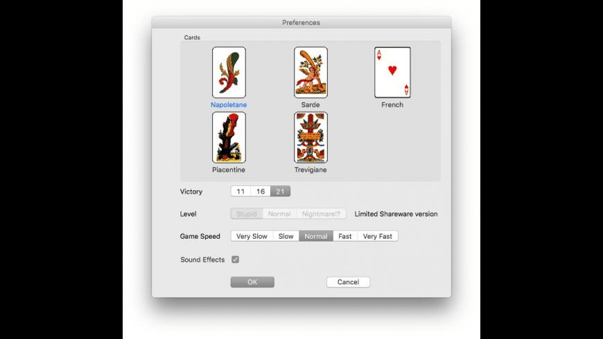 Scopa for Mac - review, screenshots