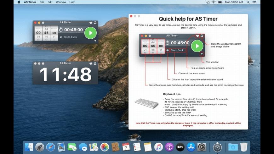 AS Timer for Mac - review, screenshots