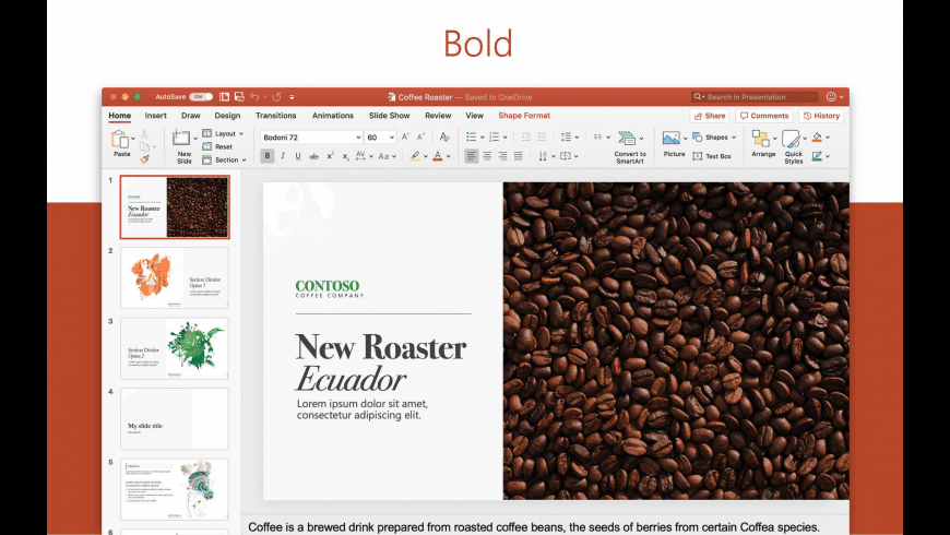 Microsoft PowerPoint for Mac - review, screenshots