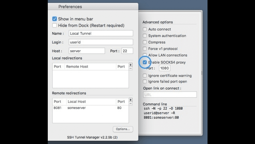 SSH Tunnel Manager for Mac - review, screenshots