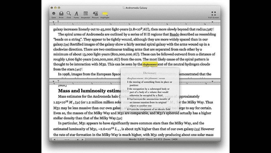Bean for Mac - review, screenshots