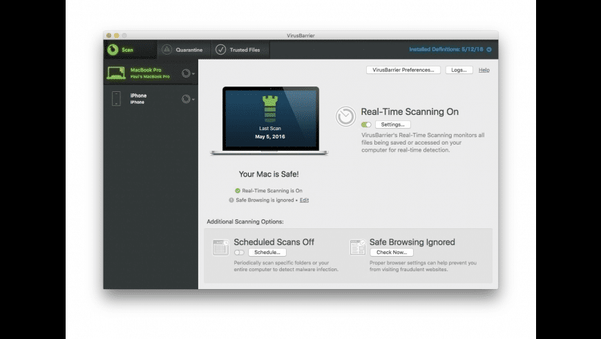 VirusBarrier X9 for Mac - review, screenshots