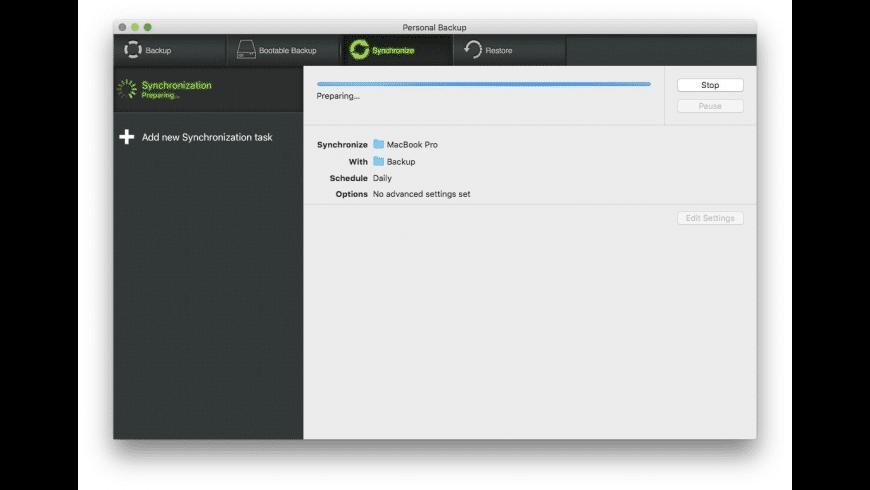 Personal Backup X9 for Mac - review, screenshots