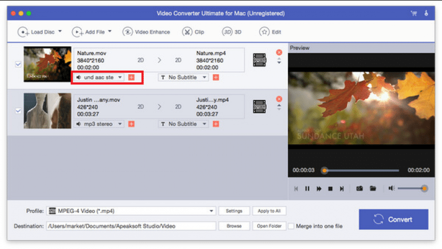 Video Converter Ultimate for Mac - review, screenshots