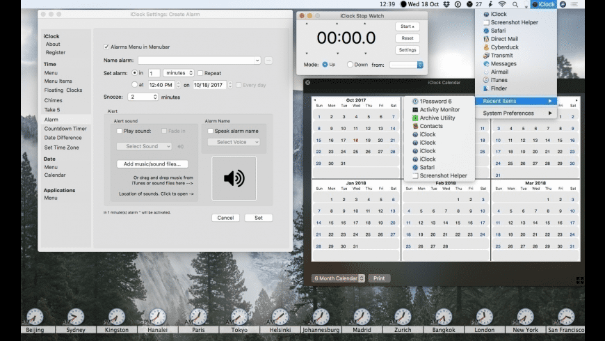 iClock for Mac - review, screenshots