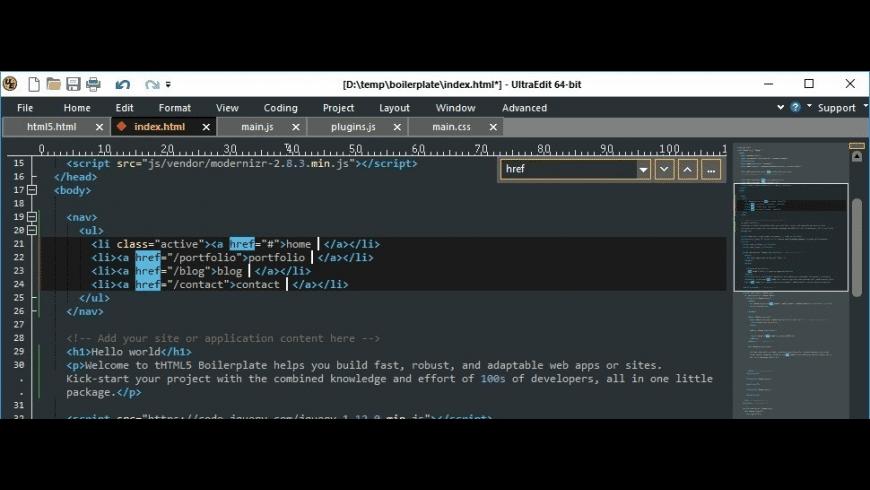 UltraEdit for Mac - review, screenshots
