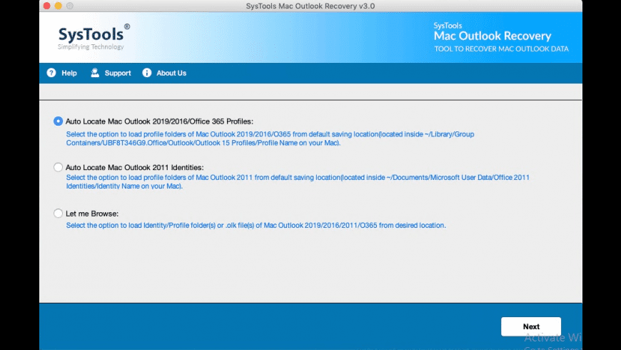 SysTools Outlook Recovery for Mac - review, screenshots