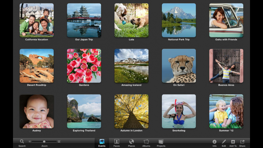 iPhoto for Mac - review, screenshots