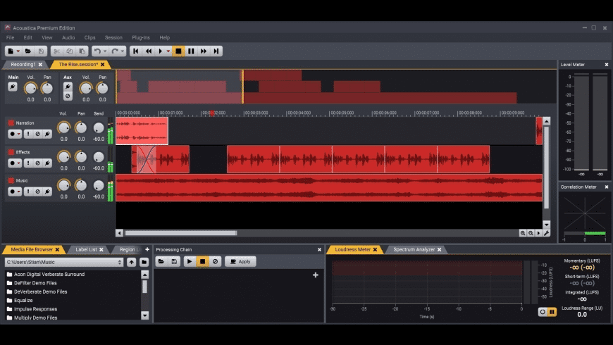 Acoustica for Mac - review, screenshots