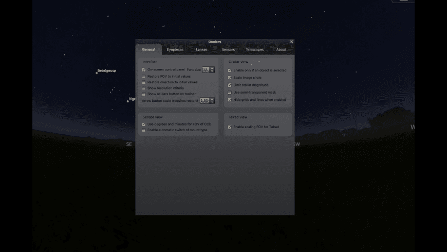 Stellarium for Mac - review, screenshots