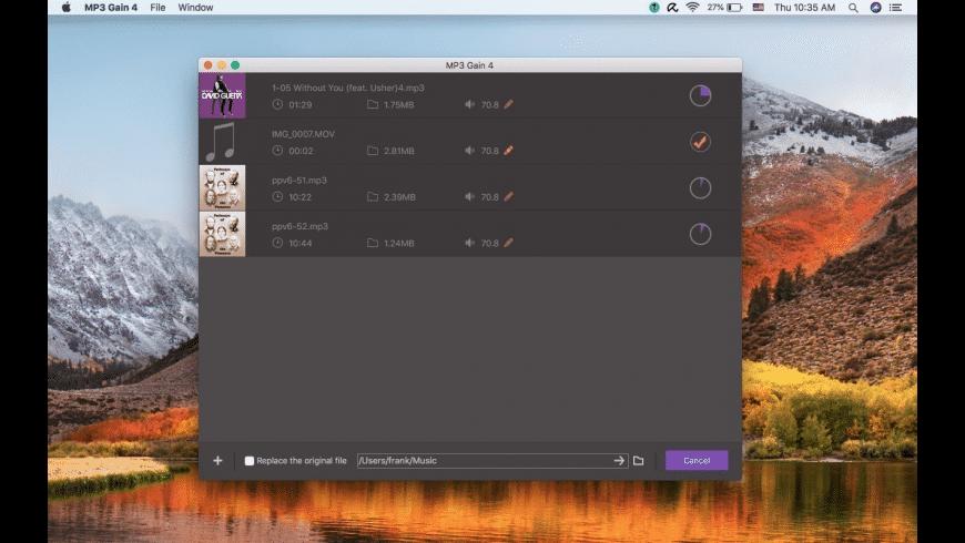 MP3 Gain for Mac - review, screenshots