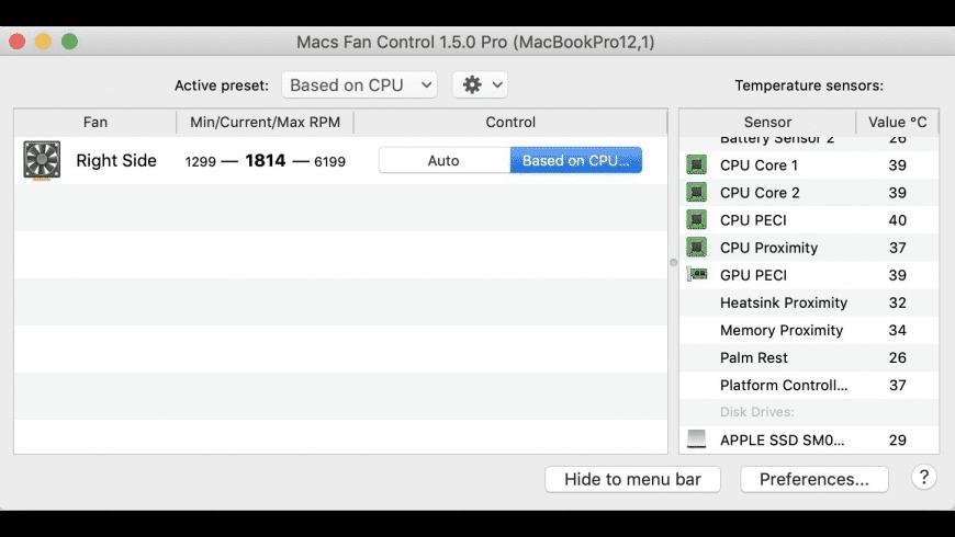 Macs Fan Control for Mac - review, screenshots