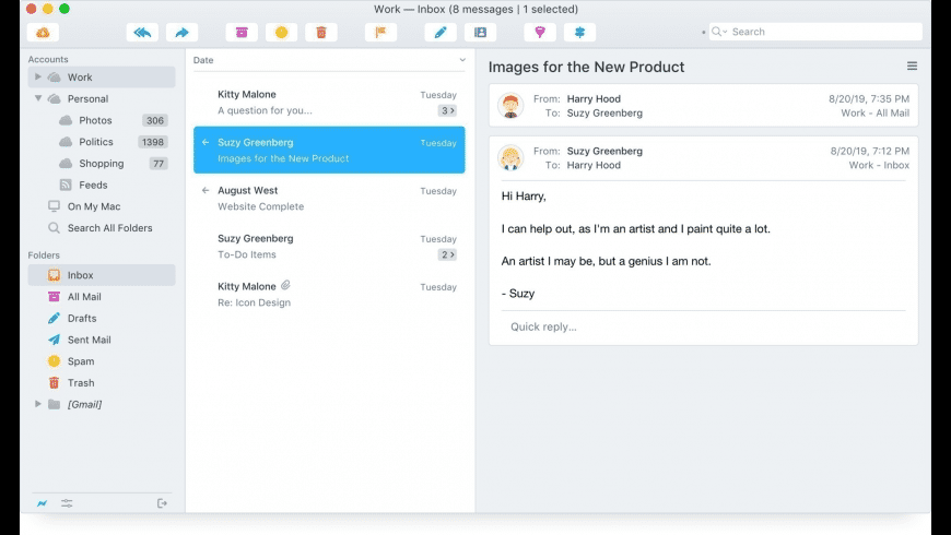 Postbox for Mac - review, screenshots