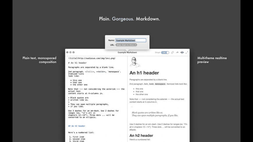 MarkDrop for Mac - review, screenshots