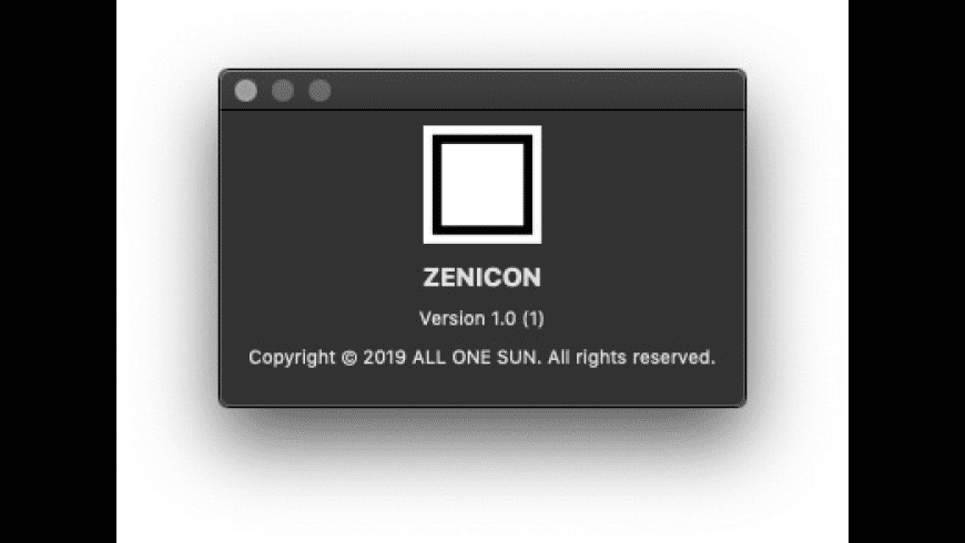 ZENICON for Mac - review, screenshots