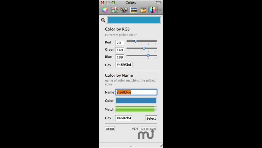 ColorNamePicker for Mac - review, screenshots